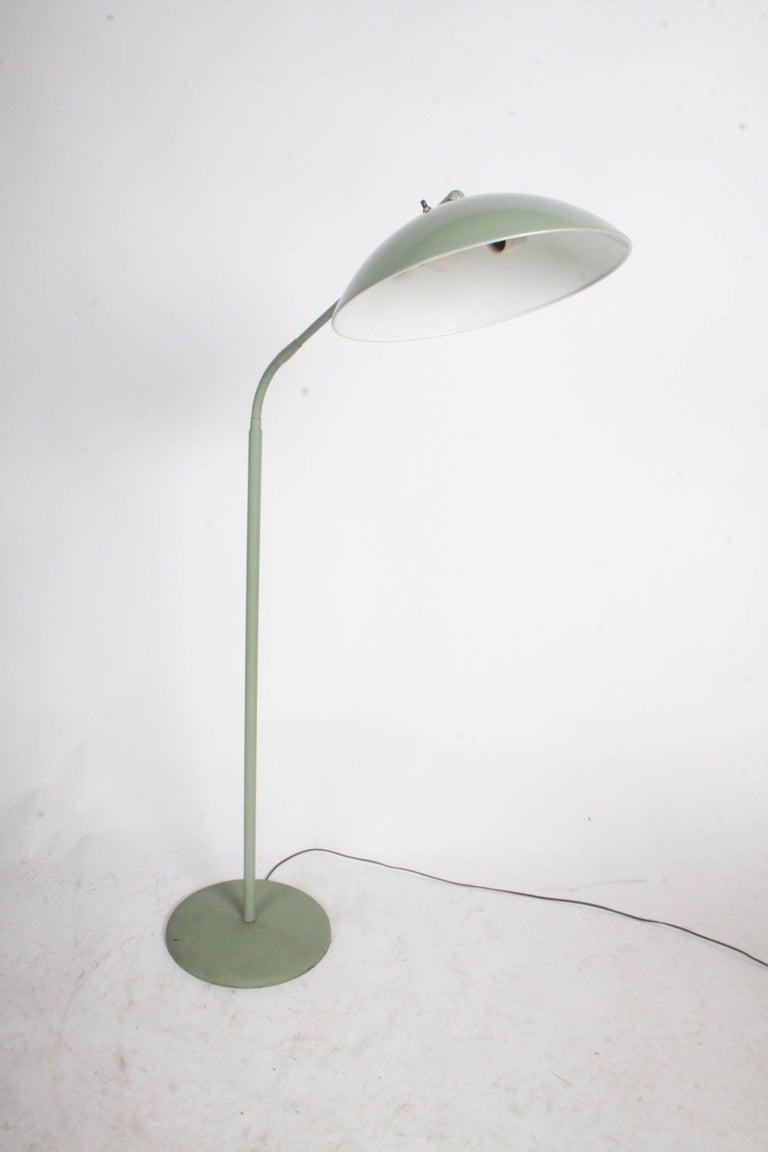 American Kurt Versen Gooseneck Adjustable Floor Lamp  For Sale