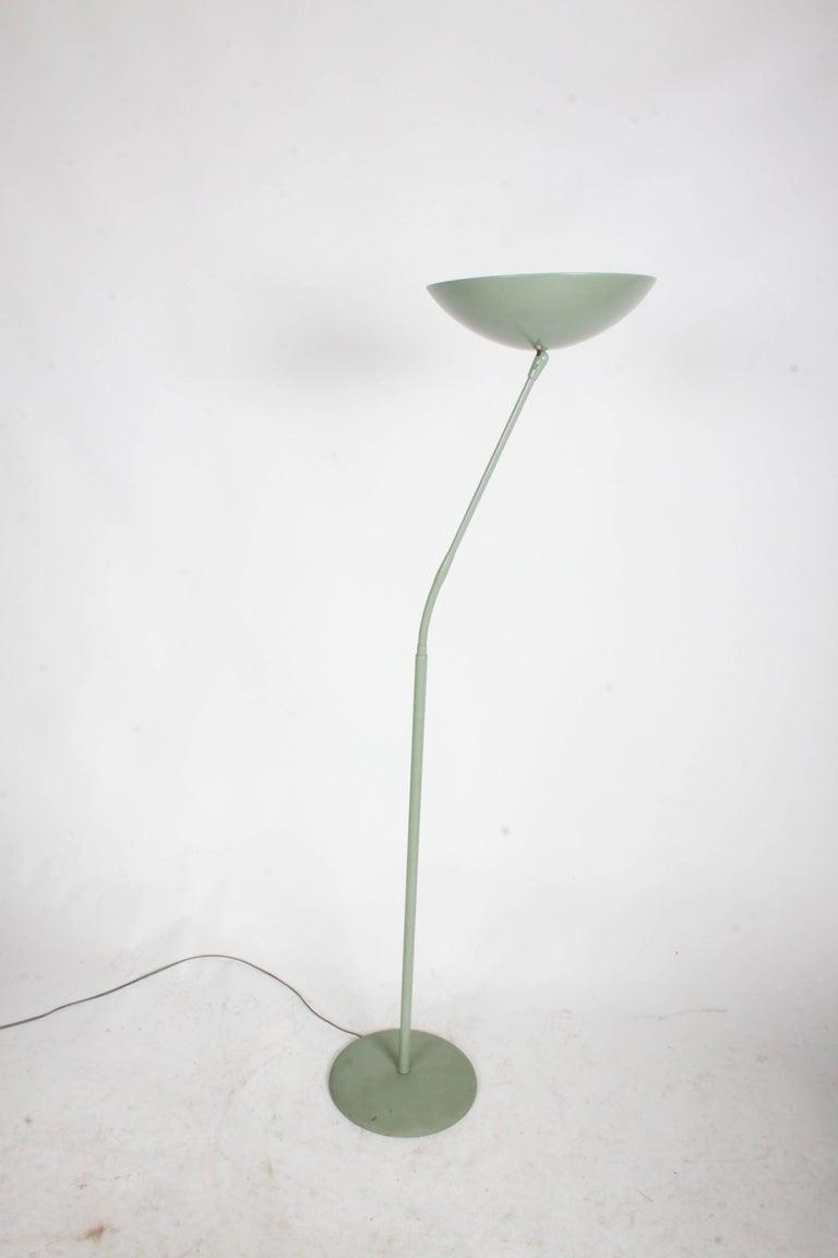 Mid-20th Century Kurt Versen Gooseneck Adjustable Floor Lamp  For Sale