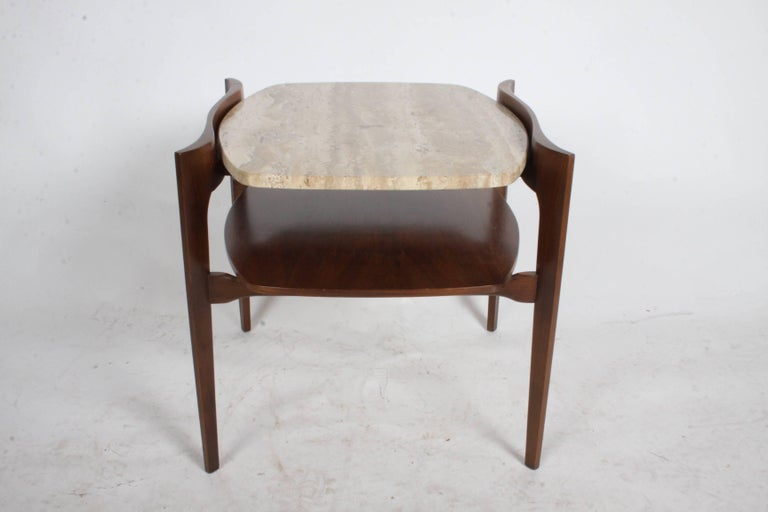 Pair of Bertha Schaefer Italian End Tables In Excellent Condition For Sale In St. Louis, MO