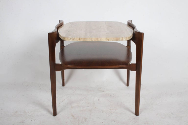 Mid-Century Modern Pair of Bertha Schaefer Italian End Tables For Sale