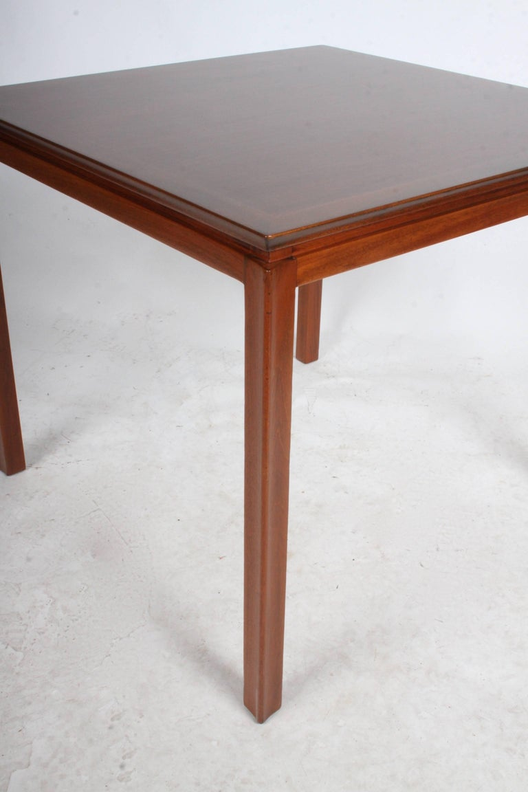 Mid-20th Century Edward Wormley for Dunbar Mahogany Game Table, Restored For Sale