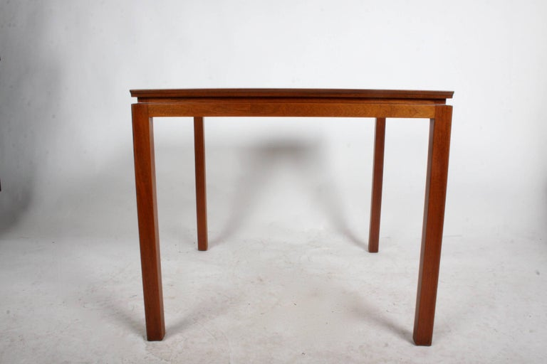 Vintage 1950s Edward Wormley for Dunbar mahogany game table refinished.