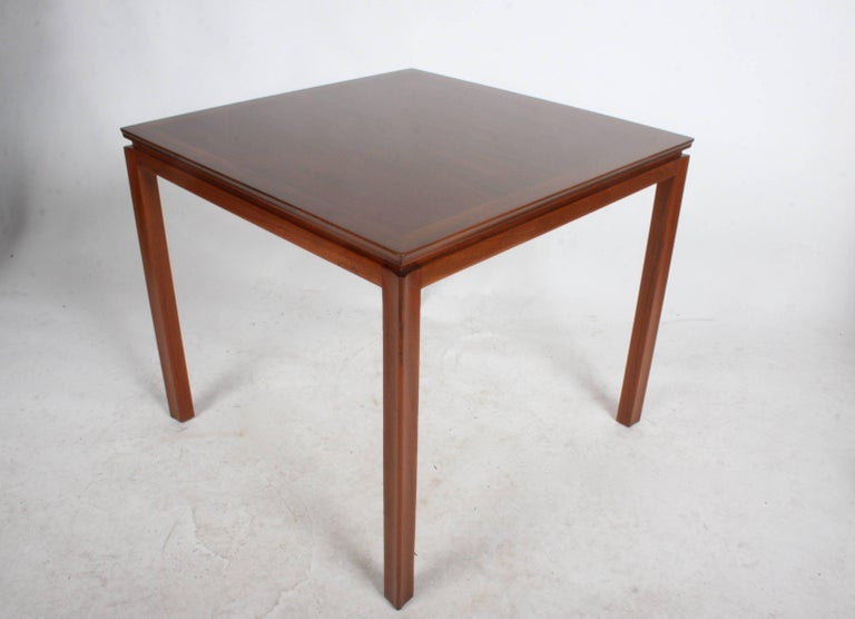 Stained Edward Wormley for Dunbar Mahogany Game Table, Restored For Sale