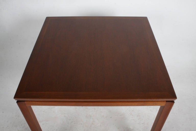 Edward Wormley for Dunbar Mahogany Game Table, Restored 4