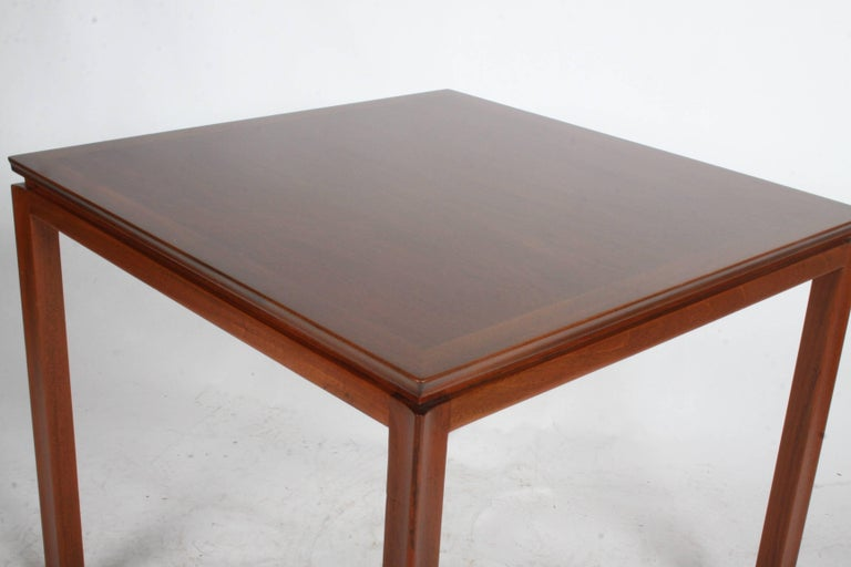 Edward Wormley for Dunbar Mahogany Game Table, Restored In Excellent Condition For Sale In St. Louis, MO