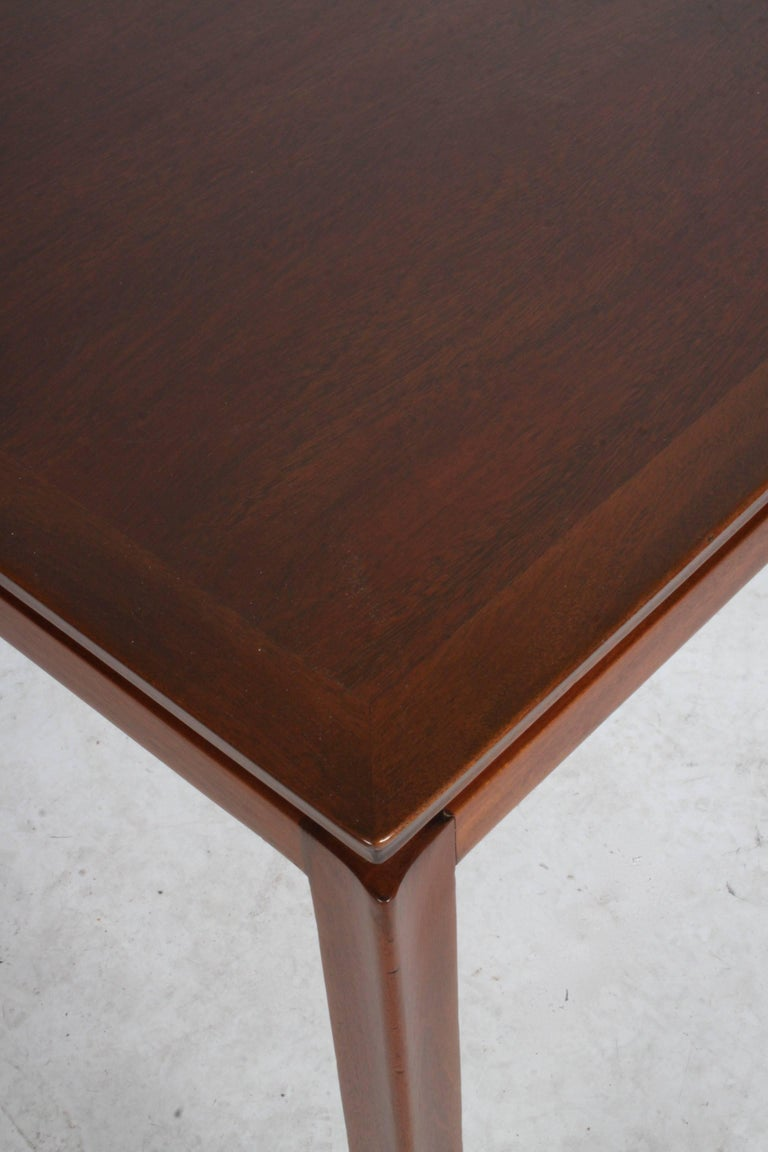 Edward Wormley for Dunbar Mahogany Game Table, Restored 9