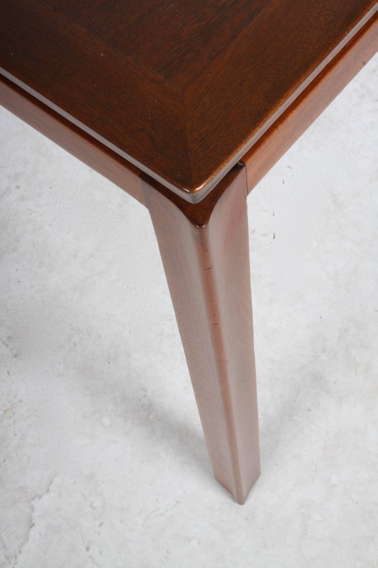 Edward Wormley for Dunbar Mahogany Game Table, Restored 8