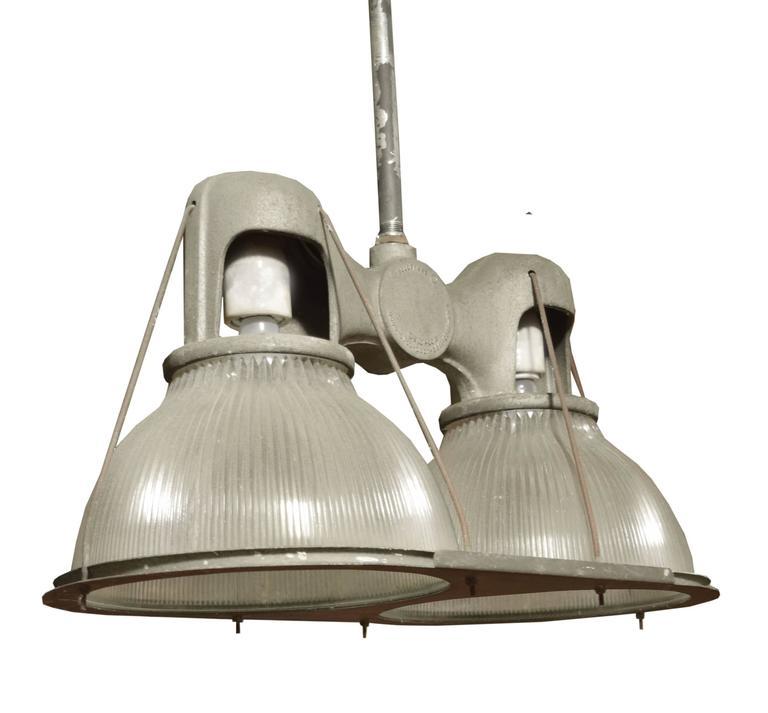 Wesco Industrial Uplight Pendant: Double Holophane Pendant Light At 1stdibs