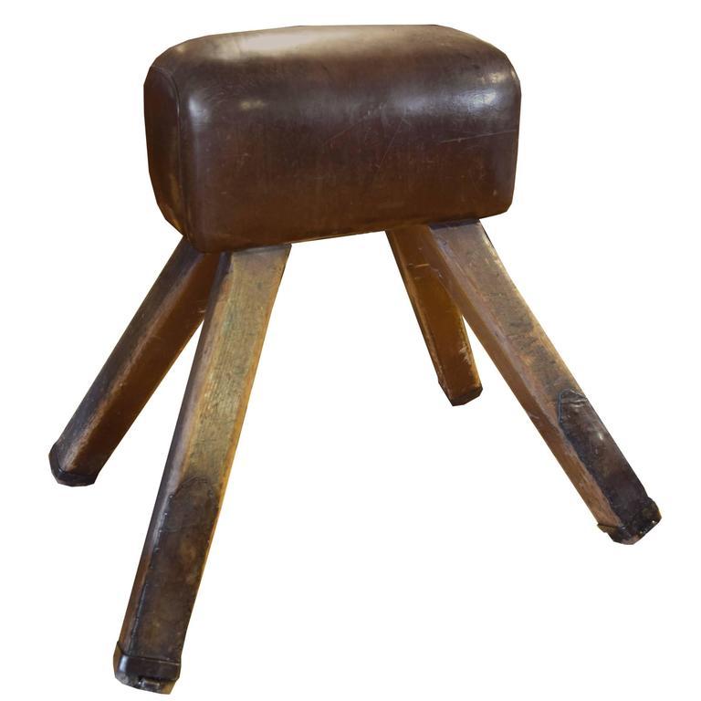 vintage wood and leather pommel horse at 1stdibs