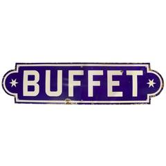 French Porcelain 'Buffet' Sign