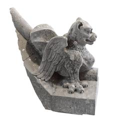 French Carved Stone Gargoyle