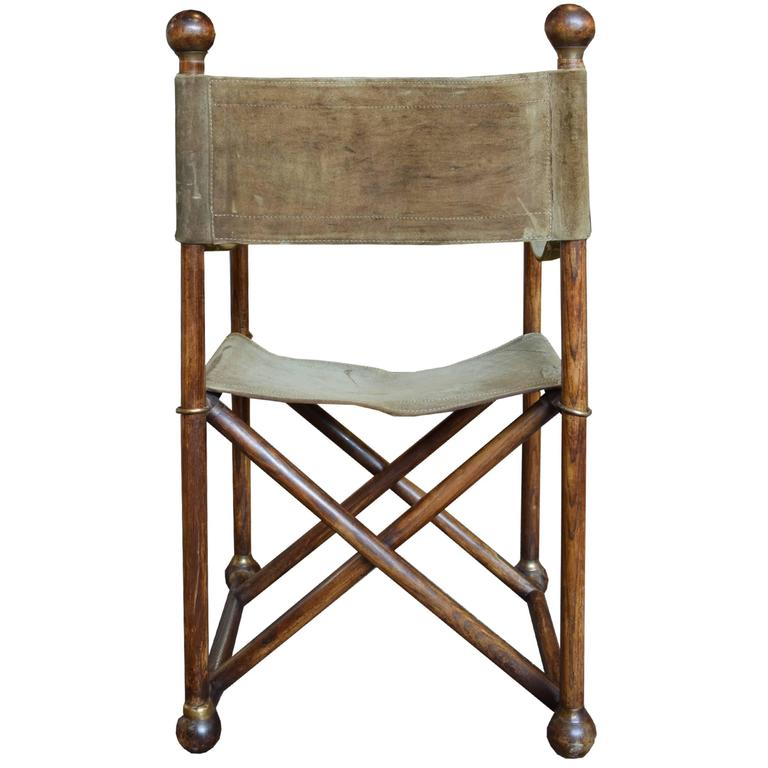 French Campaign Style Folding Chair At 1stdibs
