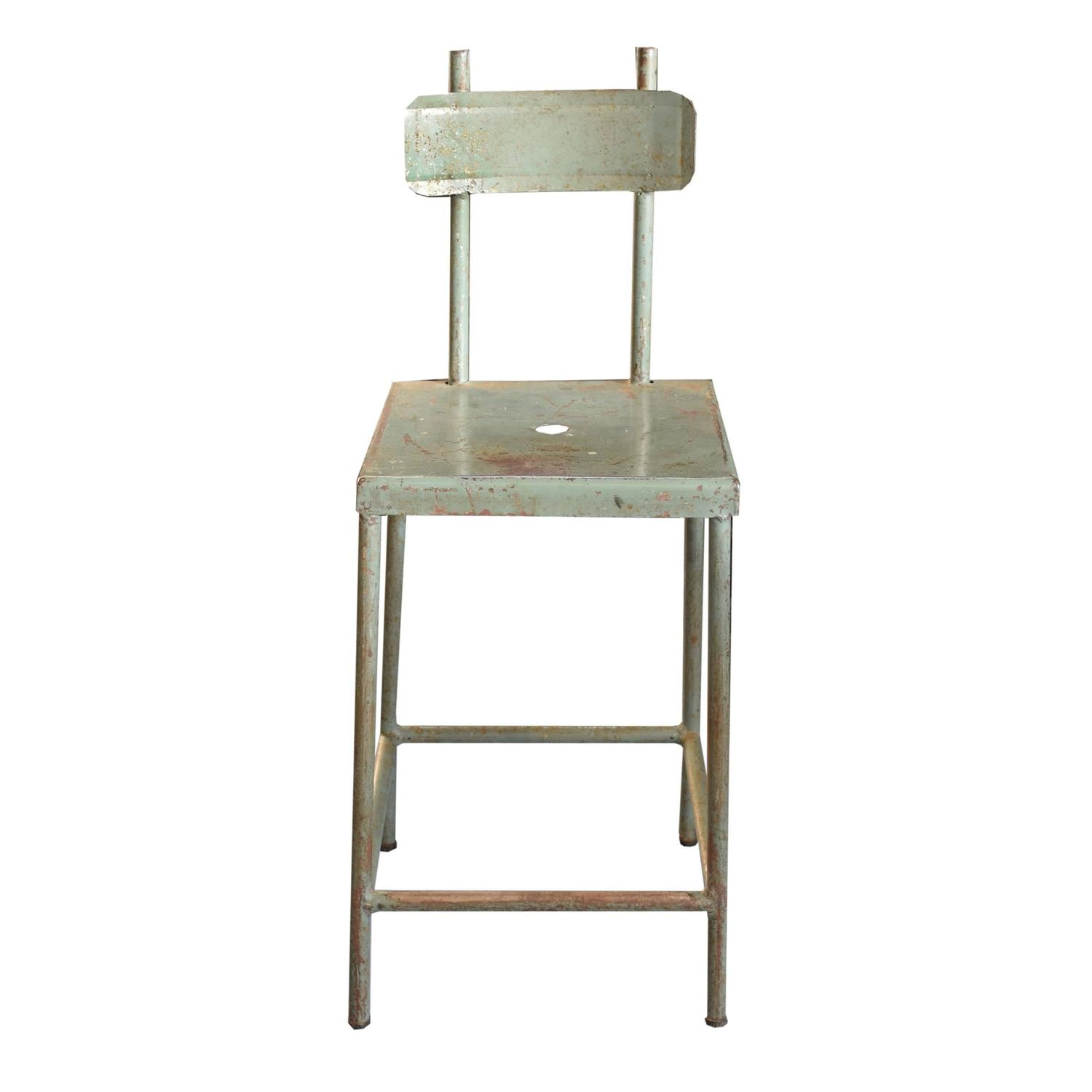 Set Of Four French Industrial Stools For Sale At 1stdibs