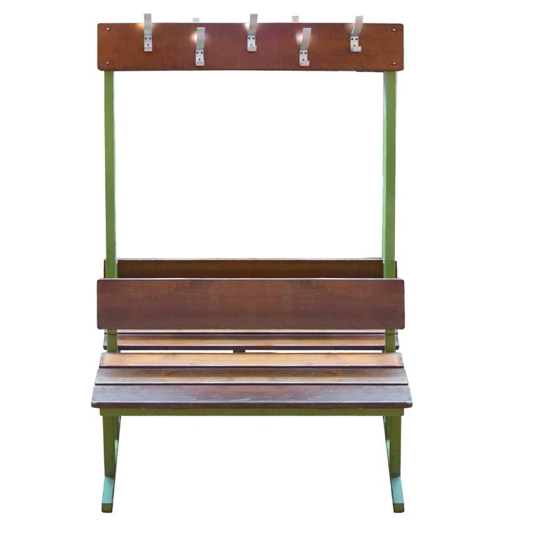 Double Sided French Locker Room Bench For Sale At 1stdibs