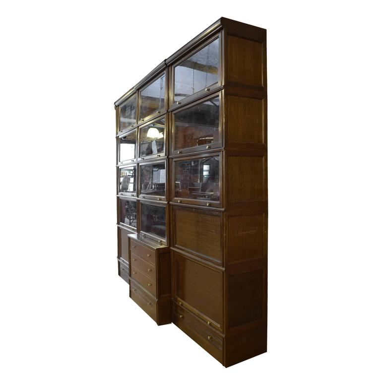 multi door book cabinet with desk for sale at 1stdibs