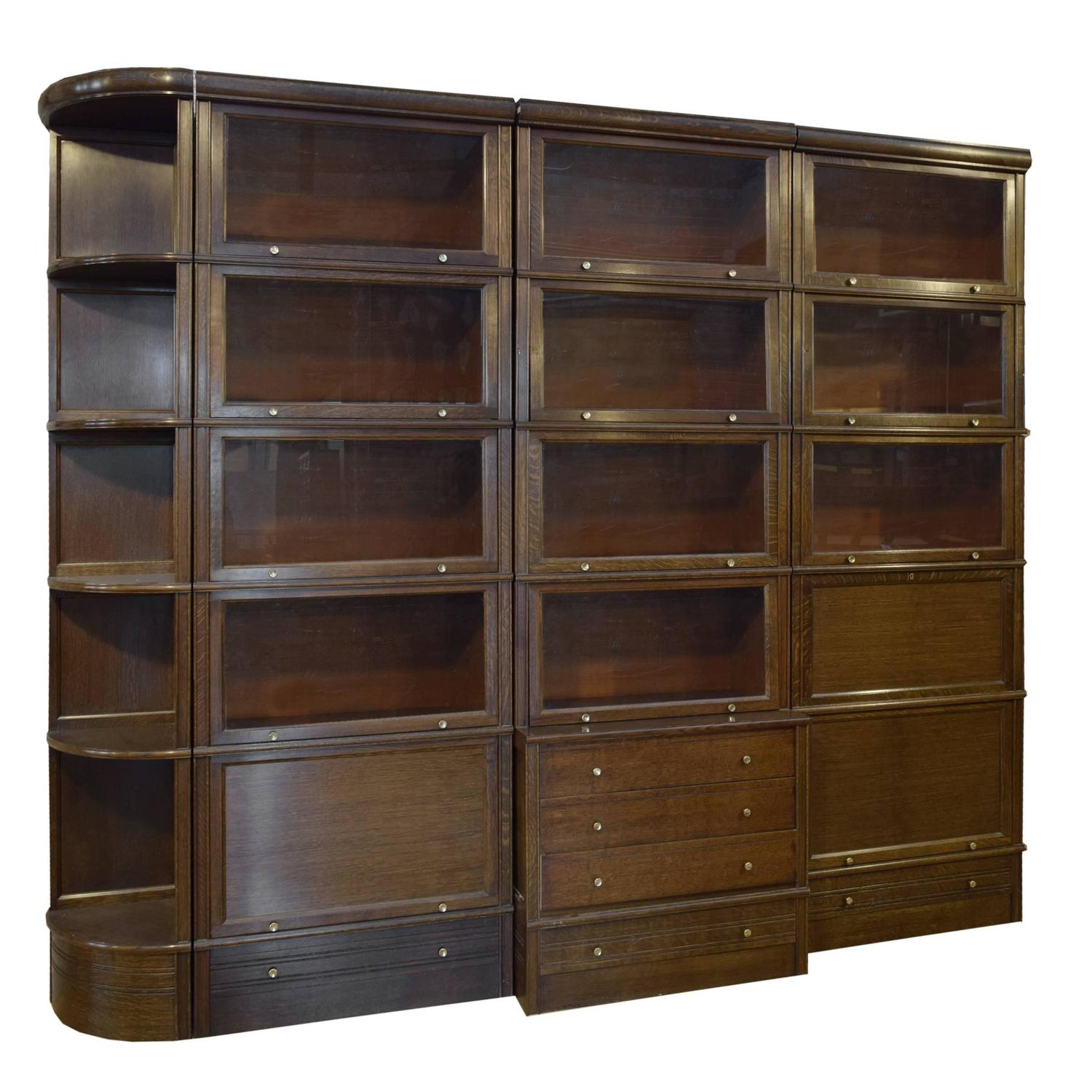 french multi door book cabinet with desk for sale at 1stdibs. Black Bedroom Furniture Sets. Home Design Ideas