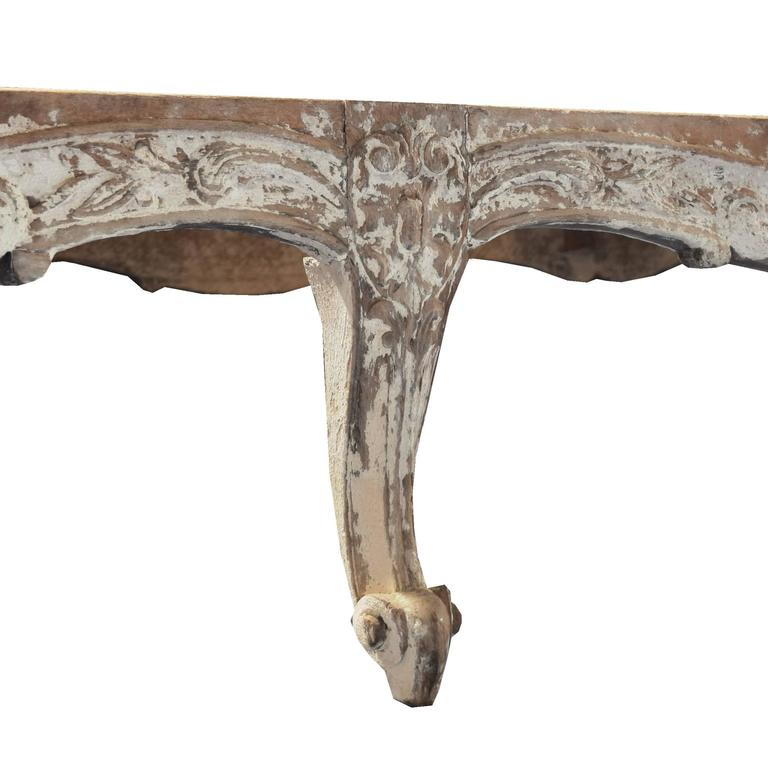 French Louis XV Style Carved Wood Daybed 3