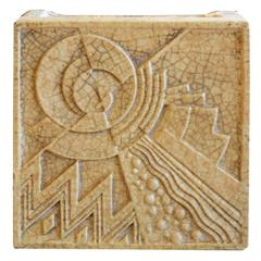 American Art Deco Terracotta Block