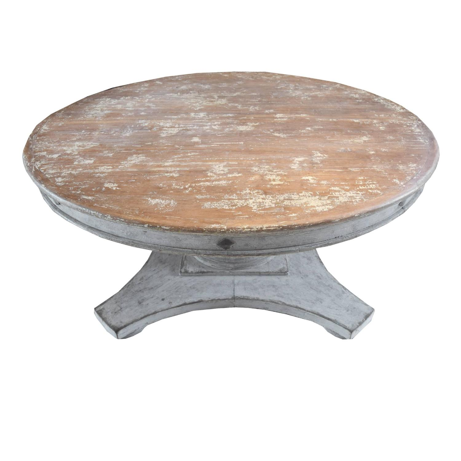 italian round wood dining table with leaf at 1stdibs