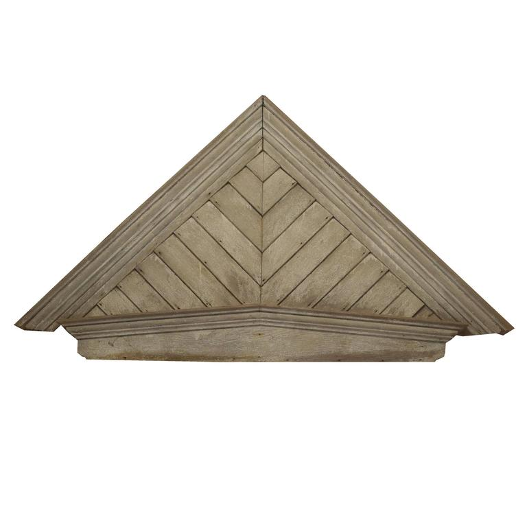 Architectural Wood Pediment : American wood pediment for sale at stdibs