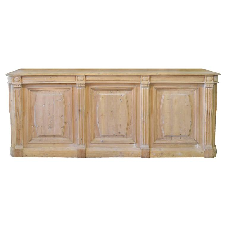 French Pine Shop Counter