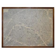 Framed Map of Paris