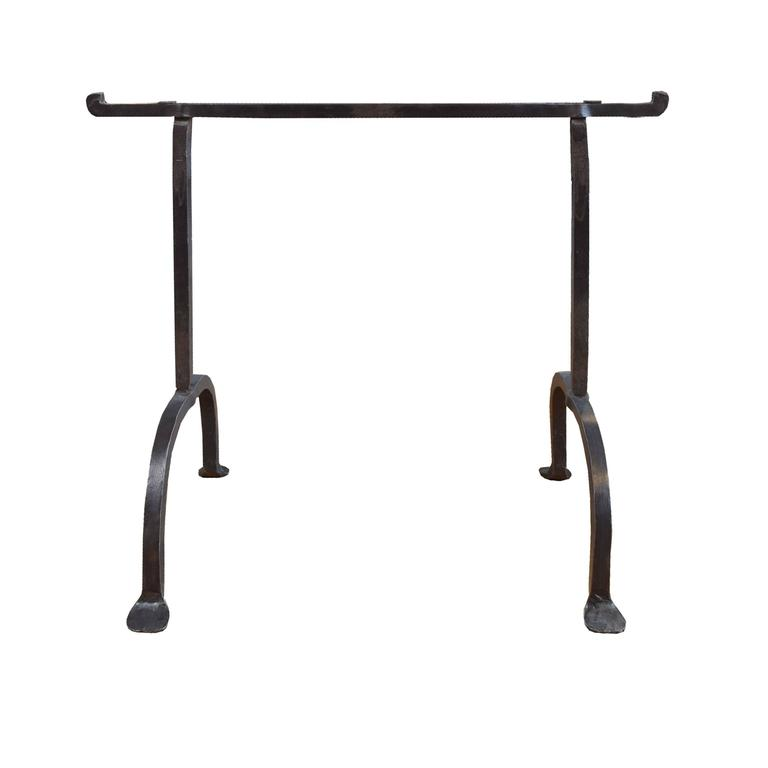 Wrought iron table bases for sale at 1stdibs for Wrought iron table legs bases