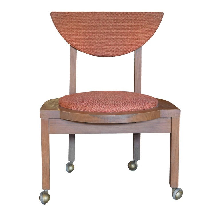 Pair Of Frank Lloyd Wright Designed Side Chairs 1953 For Sale At 1stdibs