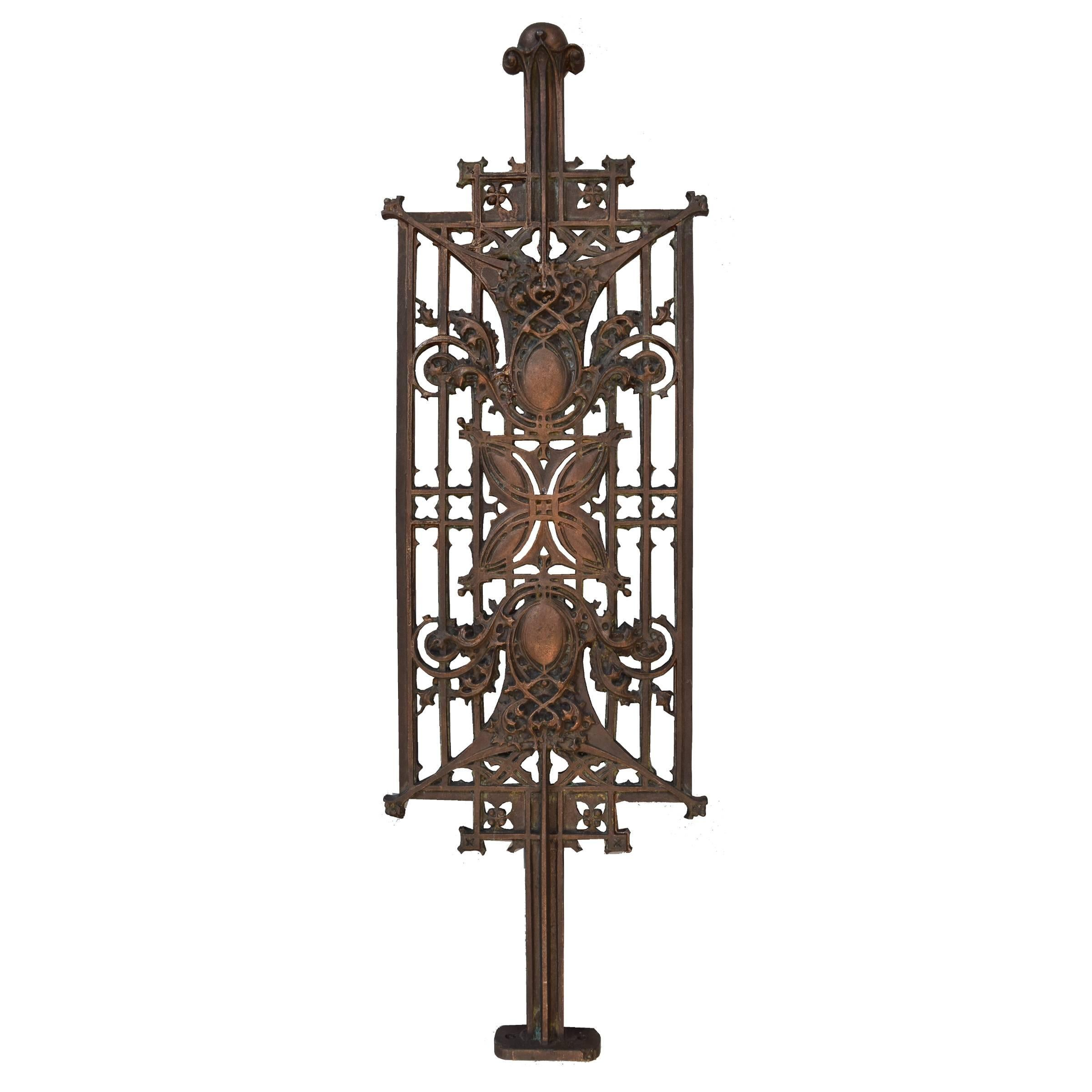 Sullivan Designed Stair Baluster From Schlesinger And Mayer Department  Store For Sale