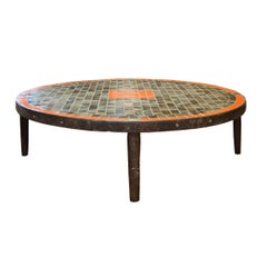 French Midcentury Tile Coffee Table