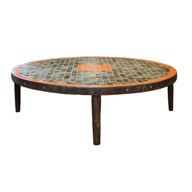 French midcentury tile coffee table for sale at 1stdibs for Tile coffee table