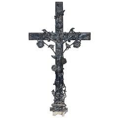 French Cast Iron Crucifix