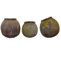 Set of Three French Terra Cotta Pots