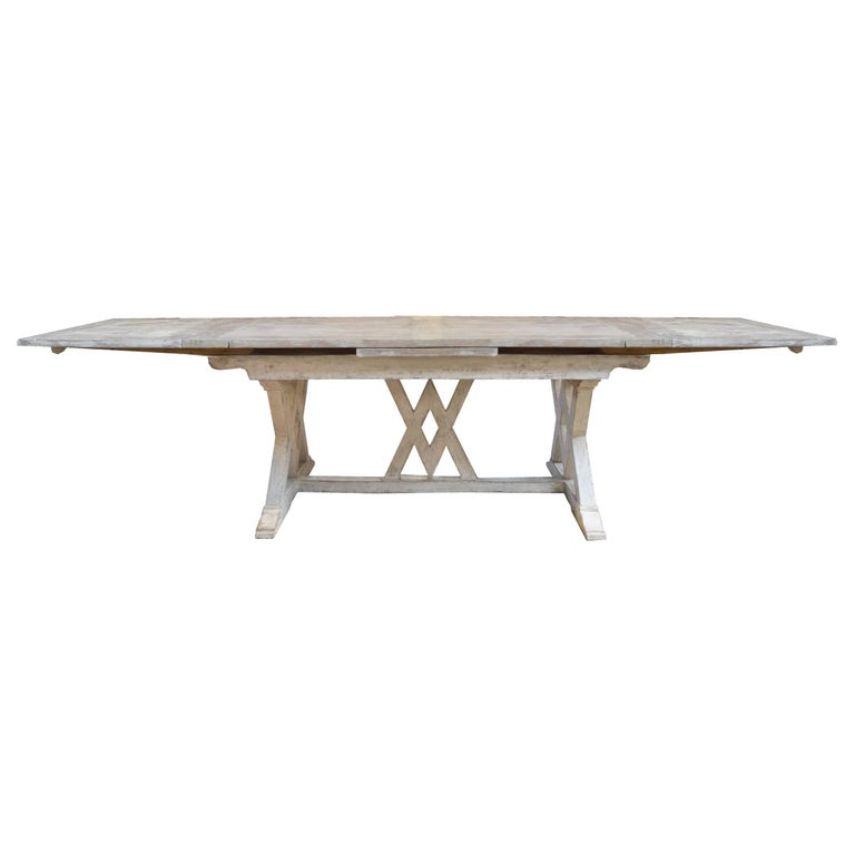 Stupendous Italian Trestle Table With Extensions Download Free Architecture Designs Scobabritishbridgeorg