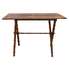 French Folding Table with Faux Bamboo Legs