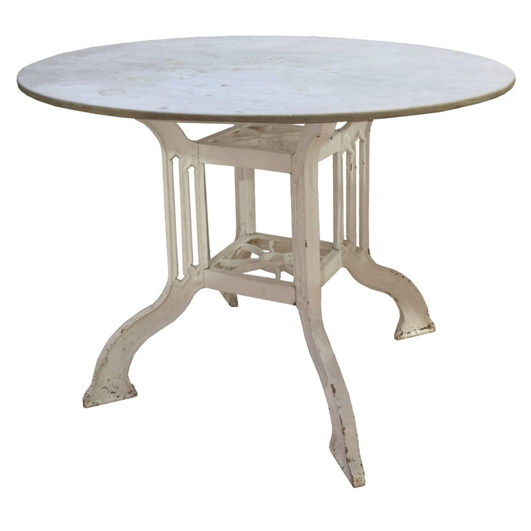 French Marble And Iron Cafe Table At Stdibs - Round marble cafe table
