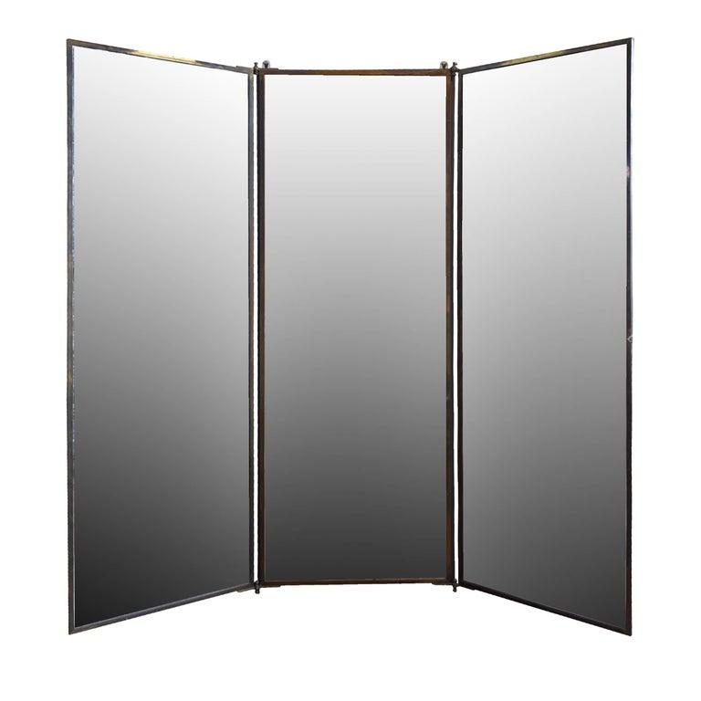 French Three Panel Dressing Mirror At 1stdibs