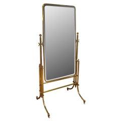 French Brass Dressing Mirror