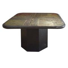 Marcus Kingma Late 20th Century Stone Top Coffee Table