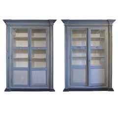 Pair of Italian Two-Door Cabinets