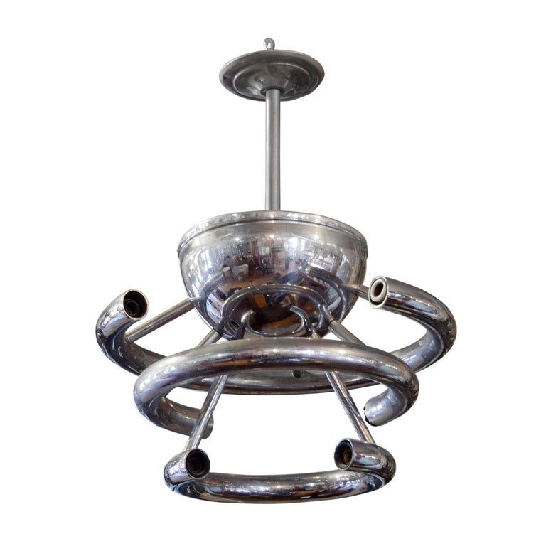 Argentine Chrome Light Fixture