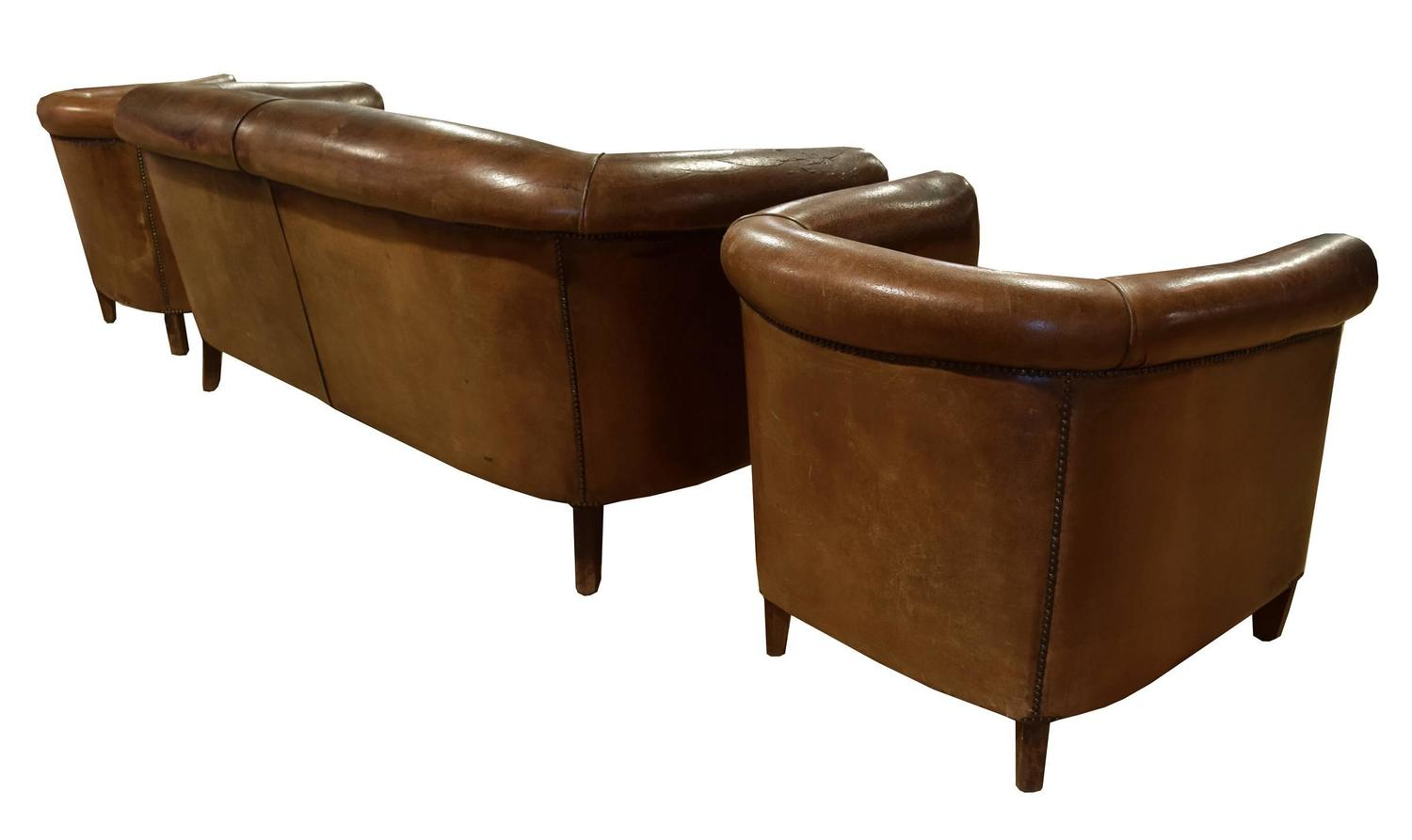 Three piece leather suite from italy for sale at 1stdibs for Furniture 3 piece suites