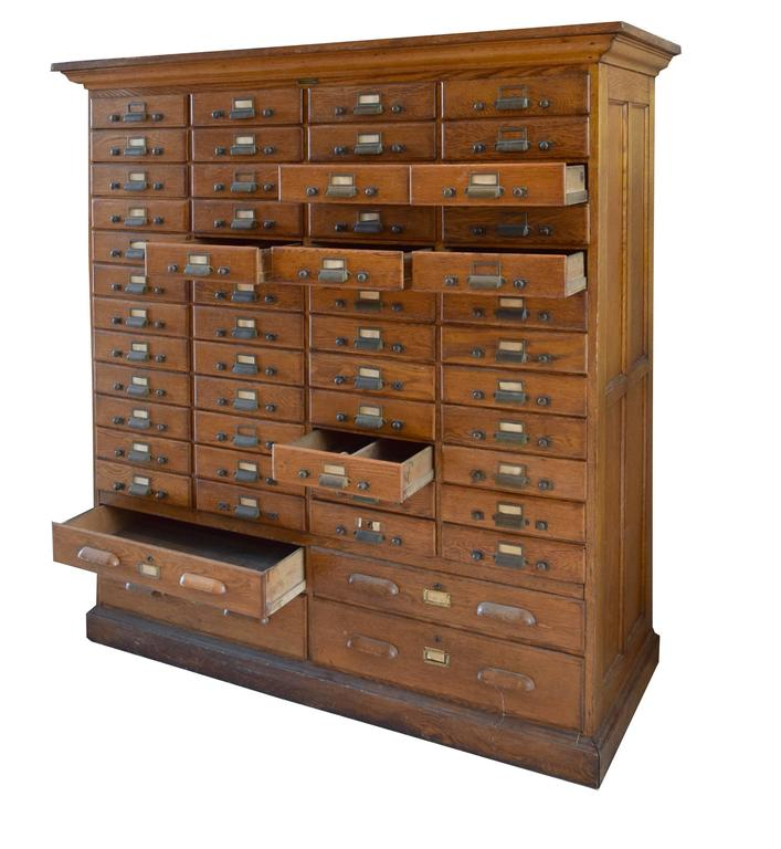 American oak multi drawer file cabinet for sale at 1stdibs for Kitchen drawers for sale