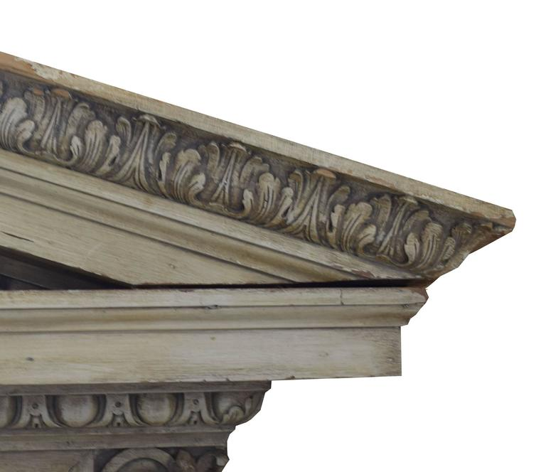 Architectural Wood Pediment : English carved wood pediment at stdibs