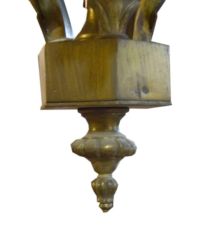 20th Century Argentine Bronze Chandelier For Sale