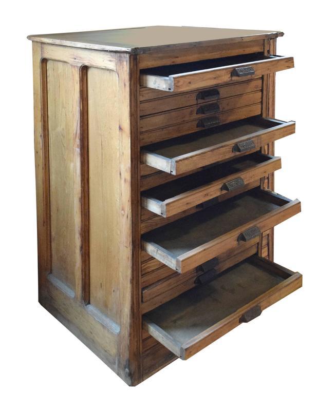 American Hamilton Flat File Cabinet For