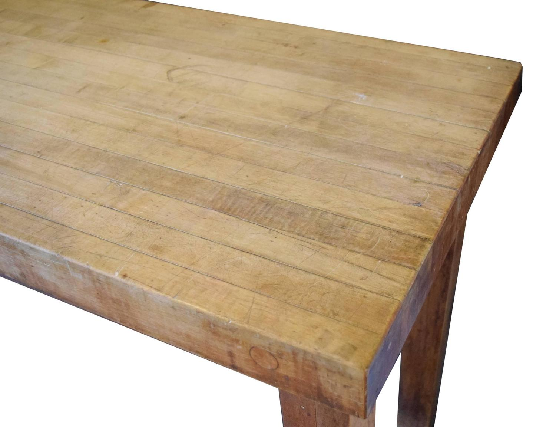butcher block table at 1stdibs