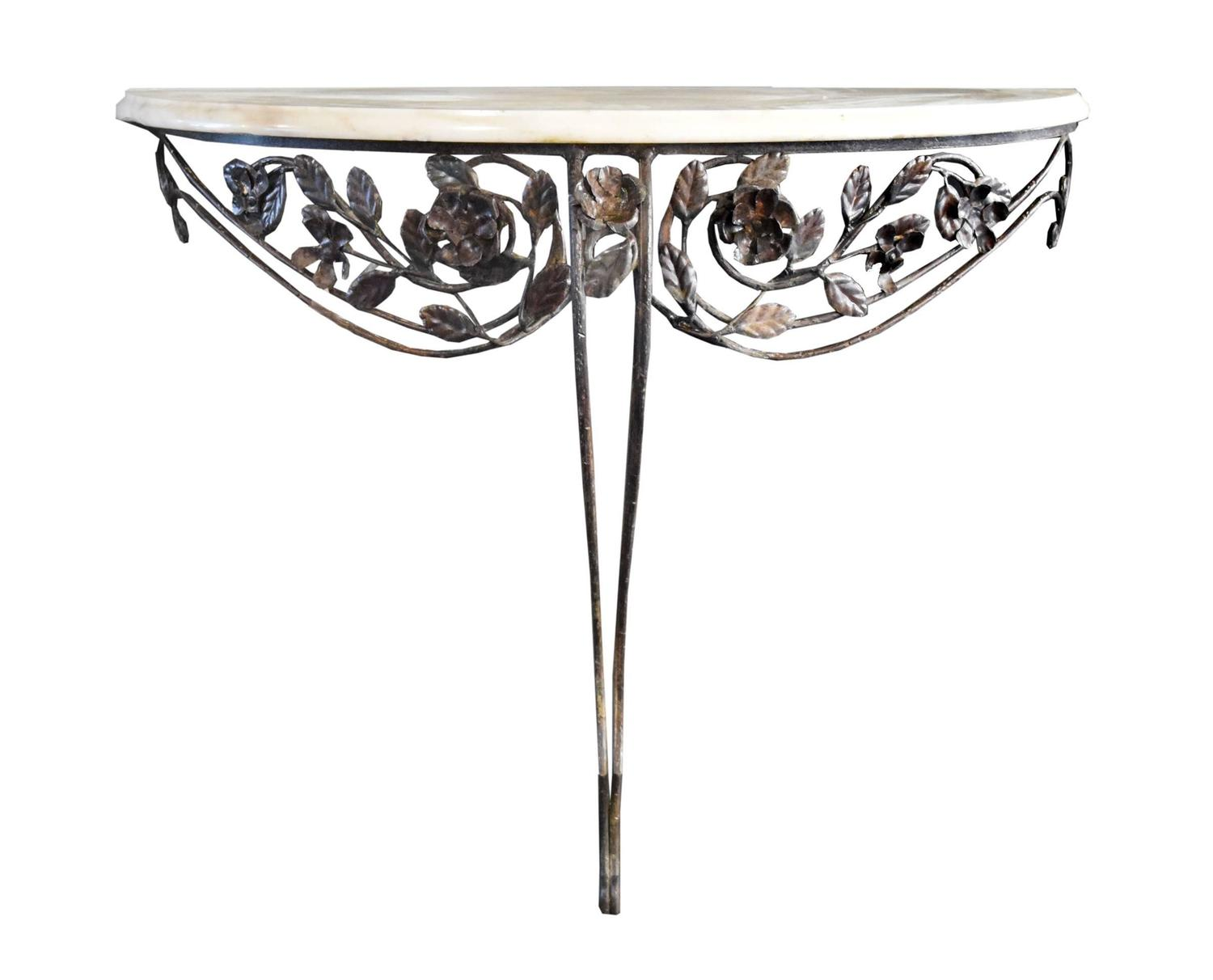 Fer Forge Console with Marble Top at 1stdi