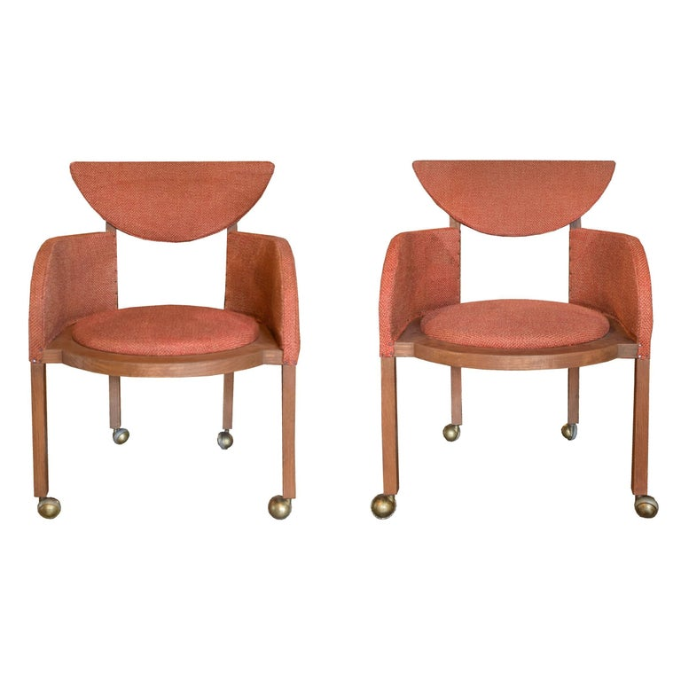 Pair of Frank Lloyd Wright Designed Armchairs, 1953