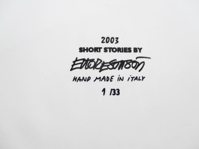 "Modern Ettore Sottsass ""Short Stories 2003"" Ceramic Box Limited Edition 1/33 For Sale"